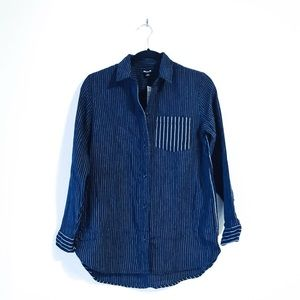 PRICE FIRM • Madewell Striped Button Down